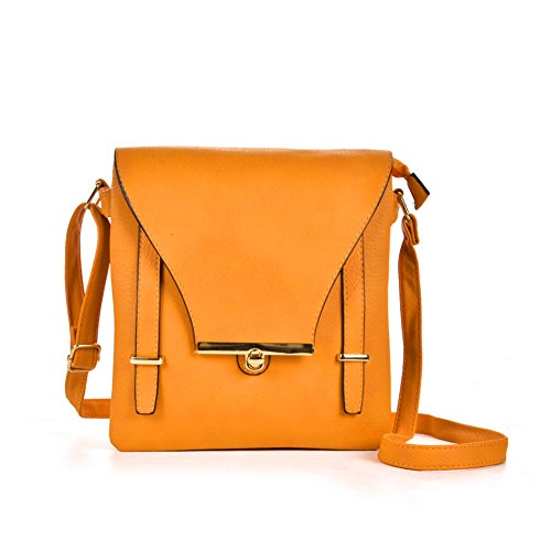 Premium Leather, Borsa a tracolla donna Yellow