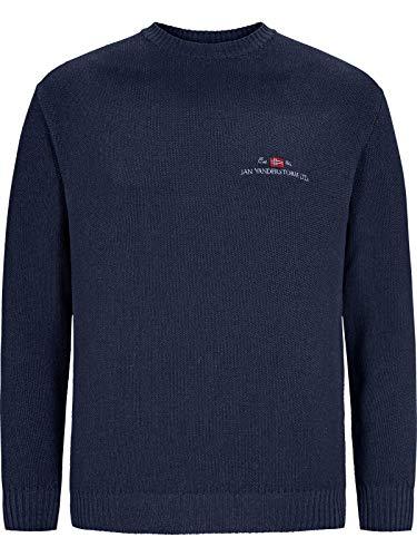 Jan Vanderstorm Herren Pullover Albrekt (feinstrick Pullover) dunkelblau 3XL (XXXL) - 64/66
