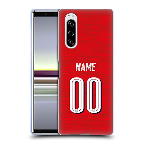 Head Case Designs Personalisierte Individuelle Arsenal FC Home Kit 2018/19 Soft Gel Huelle kompatibel mit Sony Xperia 5