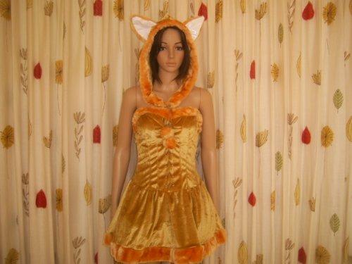 Foxy Lady Kostüm - Horror-Shop Sexy Füchsin Kostüm S/M 38-40