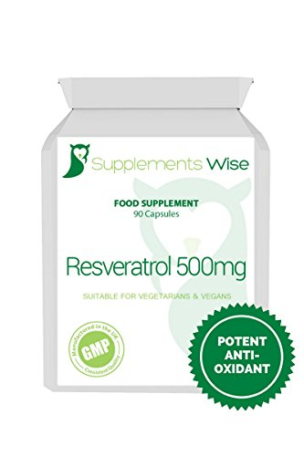 Resveratrol 500mg Capsules (90) | High Strength Antioxidant Supplement Packed With Polyphenols | Anti-Aging Supplement | For A Healthy Immune & Cardiovascular System Test