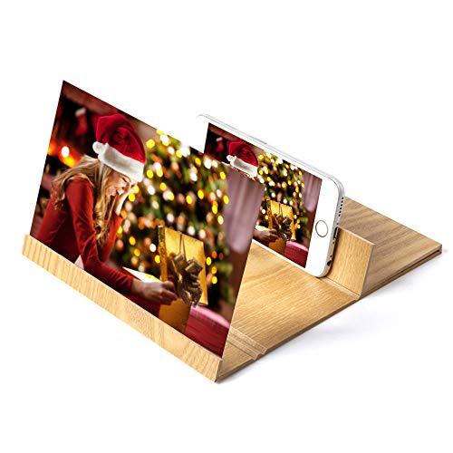 samLIKE Smartphone Bildschirmlupe Handyhalter Vergrößern Handy Lupe Bildschirm 3D 12' Premium...