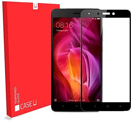 CASE U Xiaomi Redmi Note 4 Full Coverage 2.5D Tempered Glass Screen Protector-Black Rim (Black Rim)