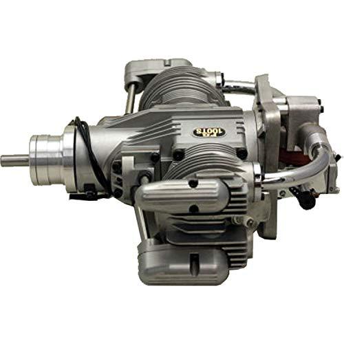SAITO FG-100TS Benzin Motor 2-Zylinder MIT ELEKTRONISCHER ZÜNDUNG (Motor Saito)