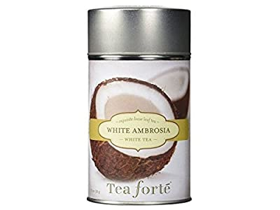 Tea Forte White Ambrosia - Thé blanc bio noix de coco et vanille bio - 50g by Tea Forté
