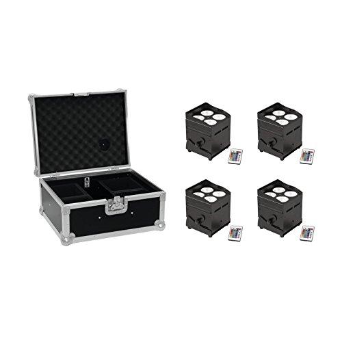 Galleria fotografica EUROLITE Set 4x AKKU UP-4 QLC Posto QuickDMX Caso