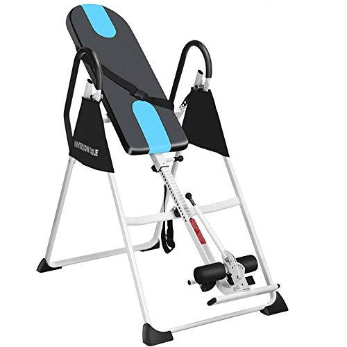 YoLiy Ergonomische Fitnessgeräte Haushalt Schwerkraft Fitness Inversion Table Einstellbare Klapptisch (Farbe : Schwarz, Größe : 153 * 118 * 76cm) -