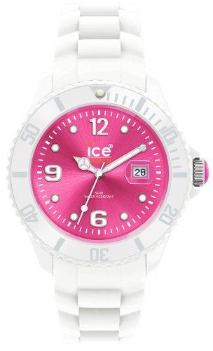 Ice-Watch Ice-White Sili Pink Unisex Armbanduhr Medium SI.WP.U.S.10