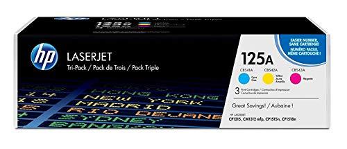 HP 125A 3er-Pack (CF373AM) Cyan/Magenta/Gelb Original Toner für HP Color Laserjet CP1215, CP1515, CM1312