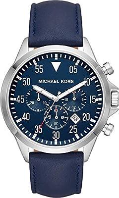 Michael Kors Reloj Cronógrafo para Hombre de Cuarzo con Correa en Cuero MK8617