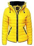 Love My Fashions® Damen Padded Puffer Jacken Frau Bubble Fur Collar Quilted Lange Ärmel Reißverschluss Warm Winter Gestrickt Coat Übergröße