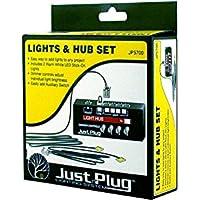 Just Plug: Lights & Hub Set w/Dimmer Controls: Warm White Stick-On LED Lights w/24 Cable (2) Woodland Scenics by Woodland Scenics