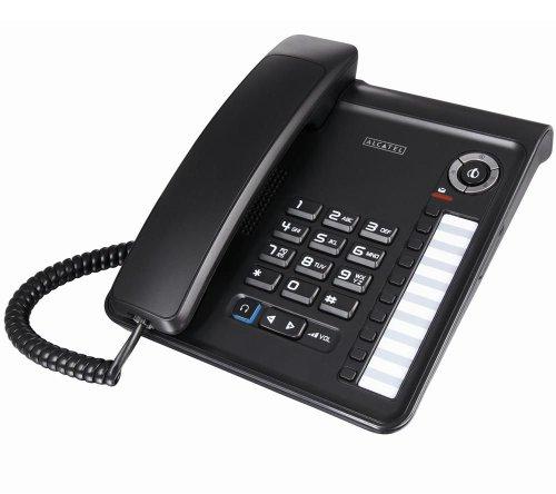 Alcatel 161 42 31 Temporis 300 schnurgebundenes Analog Telefon ohne TAE-Adapter schwarz