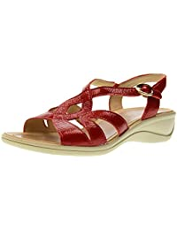 7970 ARGENTO Scarpa donna sandalo zeppa Enval soft pelle made in Italy Wj5VFxp