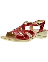 sandalo Donna blu Zeppa 50 Pelle Made Italy linea comoda con cinturino elastico