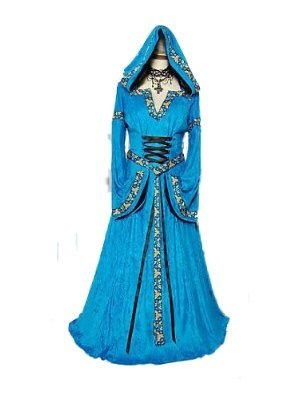 Sexy Ladies Medieval Game of Thrones Queen Princess Tudor Reenactment Gown Robe