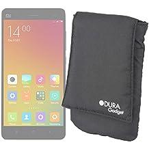 DURAGADGET Funda Protectora Negra Para Xiaomi MI 4 / 4i / Mi2a / Hongmi 1s / Redmi Note - Trabilla Trasera Para Ajustar Al Cinturón