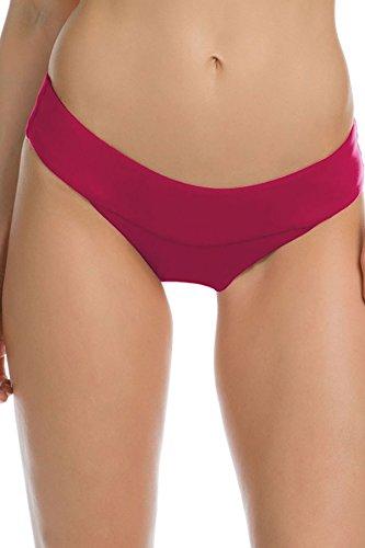 Becca by Rebecca Damen Hose Virtue Color Splash Hipster Pants - Pink - Large Cover Pink Splash