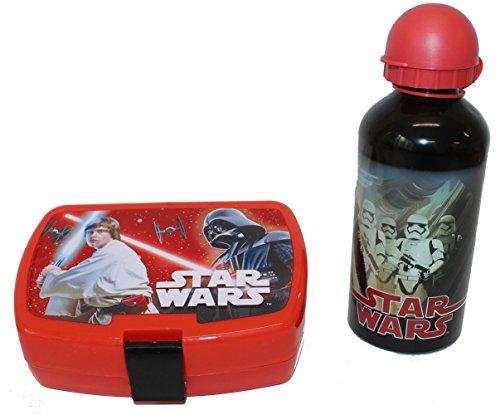 Disney Star wars Boîte à pain et gourde en aluminium Set Noir