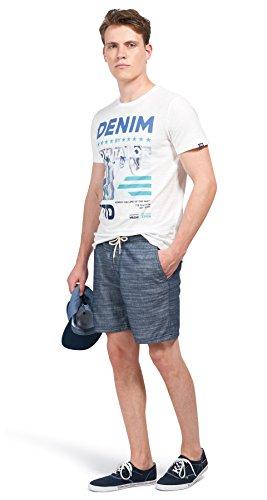 Tom Tailor Denim für Männer T-Shirt T-Shirt mit Print slightly creamy