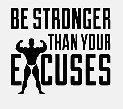 Adesivo da parete fai da te essere più forte grazie i tuoi sconti fitness sport quotazioni pvc gym art decor decal 62x54cm