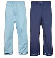 Mens Champion 2 Pack Cotton Pyjama Trouser Bottoms Sleepwear Nightwear (Navy/Sky) L