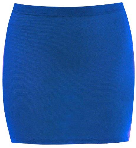 New Womens PLus Size Mini Ponti Causal Pencil Skirts 8-22 ( Royal Blue , UK 8-10 / EU 36-38 ) (Blue Pencil Royal Skirt)