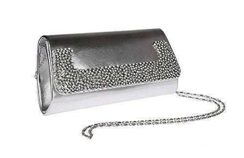 Flada, Poschette giorno donna argento Silver medium Silver