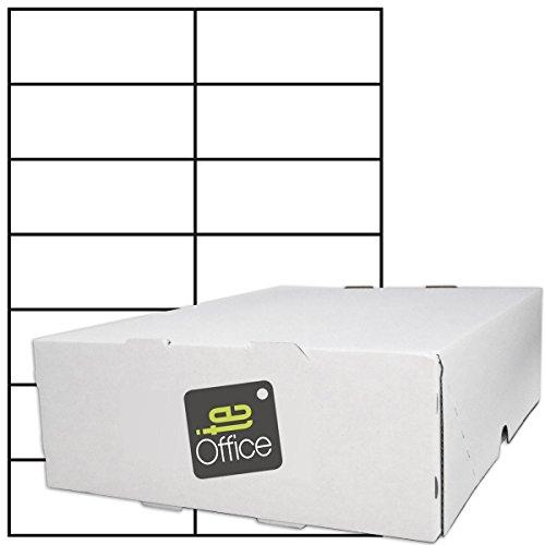 TE-Office 7000 Stück Haftetiketten Klebeetiketten Versandetiketten auf A4 Bogen weiß matt 105 x...