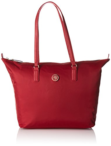 Tommy Hilfiger 8719111592664 Poppy Tote Borsa Messenger, 50 cm, Scooter Red