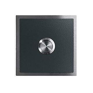 Türklingel - verschiedene RAL-Farben - Edelstahl-Klingeltaster –Edelstahl Klingelplatte - Farbe: Anthrazit RAL 7016
