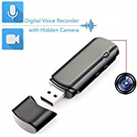 Mini Grabadora de Voz con Cámara Oculta | Duración de la batería: 25 Horas en Modo Audio y 5 Horas en Modo Vídeo | Mini Cámara Oculta Portátil y USB Grabadora Audio
