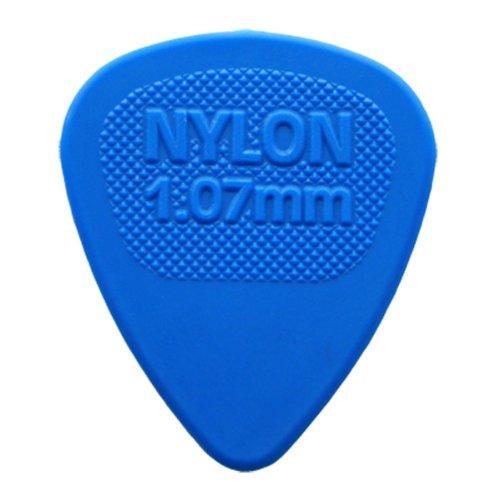 Dunlop Nylon Midi púas para guitarra 12–1,07mm Azul en una lata de púa de Handy