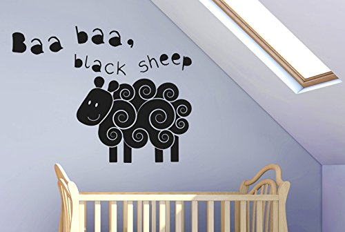 baa-baa-black-sheep-nursery-rhyme-wall-stickers-art-decals-large-height-57cm-x-width-75cm-black