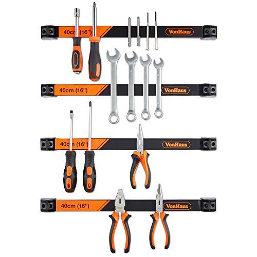 VonHaus - Soporte magnético herramientas 4 x 40 cm