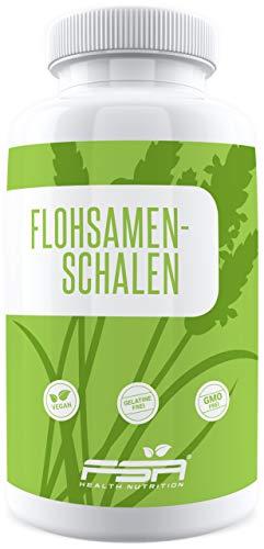 Flohsamenschalen 180 Kapseln, 1200 mg pro Kapsel, 100% Psyllium Husk, Vegan - Made in Germany - FSA Nutrition