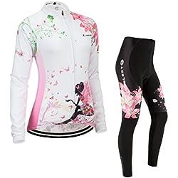 Juego de camiseta y pantalones de ciclismo, conjunto para ciclismo, JUNGLEST (Otoño) Pecho 91- 97cm