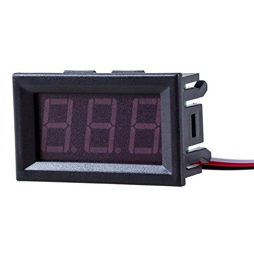 SODIAL(R) Mini Voltimetro Medidor de Voltaje Presion Digital DC 0-30V