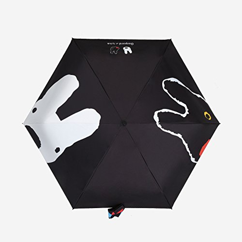 WFL Paraguas de sol hombres y mujeres 50 por ciento de lluvia y lluvia doble paraguas de plástico negro protección solar paraguas UV,segundo,CM