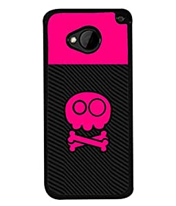 PrintVisa Designer Back Case Cover for HTC M7 :: HTC One M7 (Cute Girly Design In Black And Pink)
