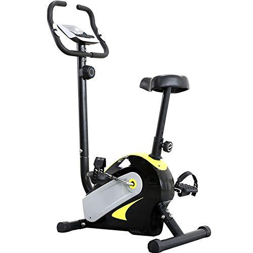 BF-DCGUN Spinning Fahrrad Magnetic Control Mute Fitnessgeräte, Indoor Mini Sport Pedal Fahrrad mit Herzfrequenzsensor