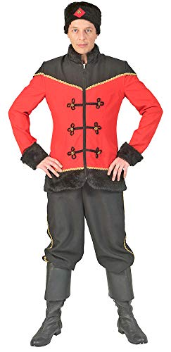 Kostüm Ukraine - Funny Fashion Kosake Kostüm Tasha für Herren - Gr. 60/62