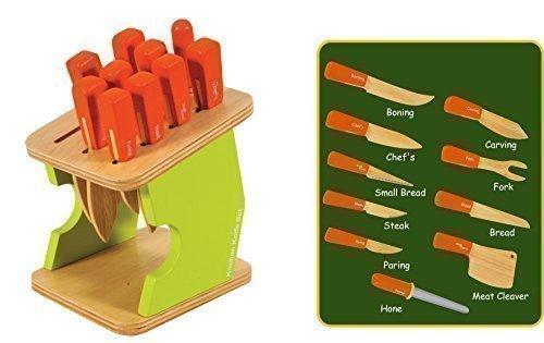 Preisvergleich Produktbild Messerblock,11teilg.ab 3 Jahre