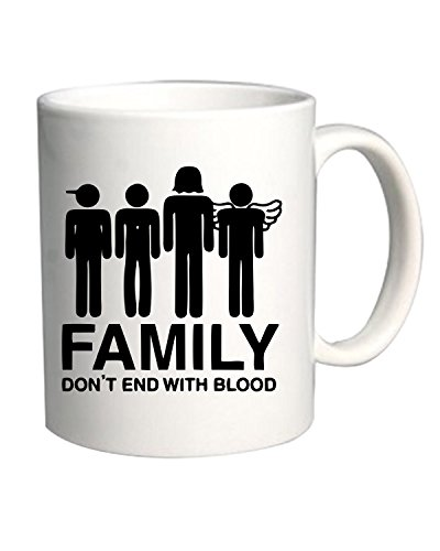 Cotton Island - Tazza 11oz OLDENG00258 supernatural family dont end with blood s, Taglia 11oz