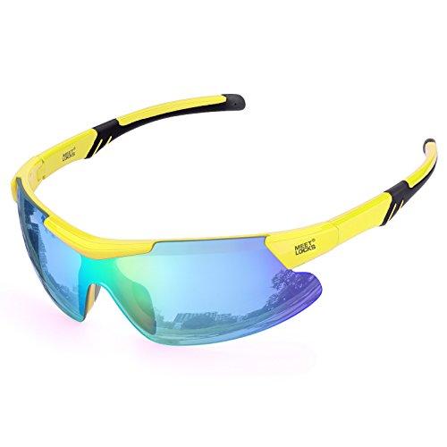 Meetlocks integrativi gli sport ciclismo occhiali, telaio pc lenti, protezione uv 100%, per il ciclismo, baseball, equitazione, guida, corsa, golf, attività all'aperto