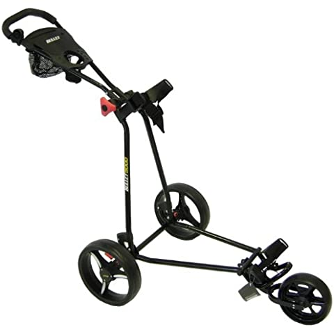 Bullet 5000 Deluxe - Carrito de golf con 3 ruedas negro negro