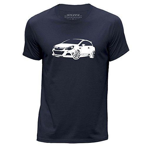 stuff4-hommes-moyen-m-bleu-marin-col-rond-t-shirt-stencil-art-de-voiture-corsa-opc