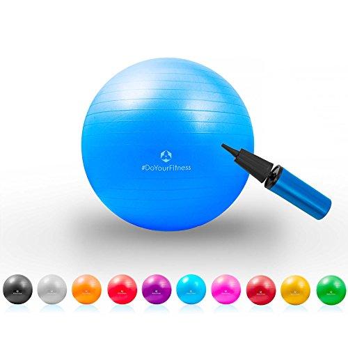 Gymnastik-Ball »Pluto« / Robuster Sitzball und Fitnessball / 55 cm / blau