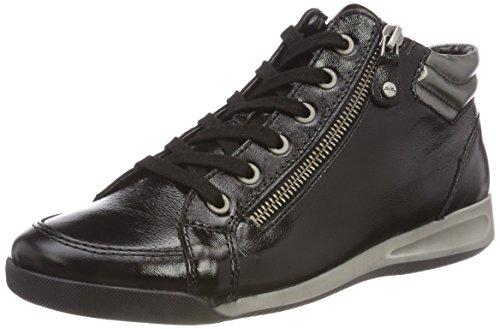 ara ROM-STF, Damen Hohe Sneaker, Schwarz (SCHWARZ, GUN 10), 40 EU (6.5 UK)