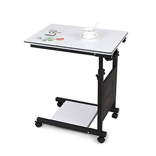 SUN RNPP Betttische Laptopstnder tilt top bedientisch-Laufwerk-medizinischer Nicht justierbarer beweglicher Tisch-tragbarer Laptop-Computer-Stand-Schreibtisch-Wagen-behälter,B - Bett-tisch Tilt